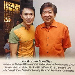 With Mr Kaw Boon Wan