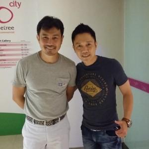 Isaac with Media Corp Artiest Darren Lim