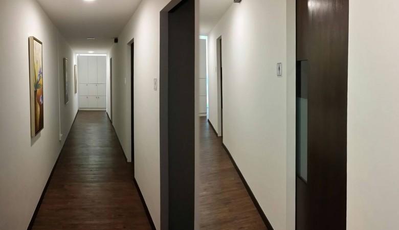 Corridor to rooms